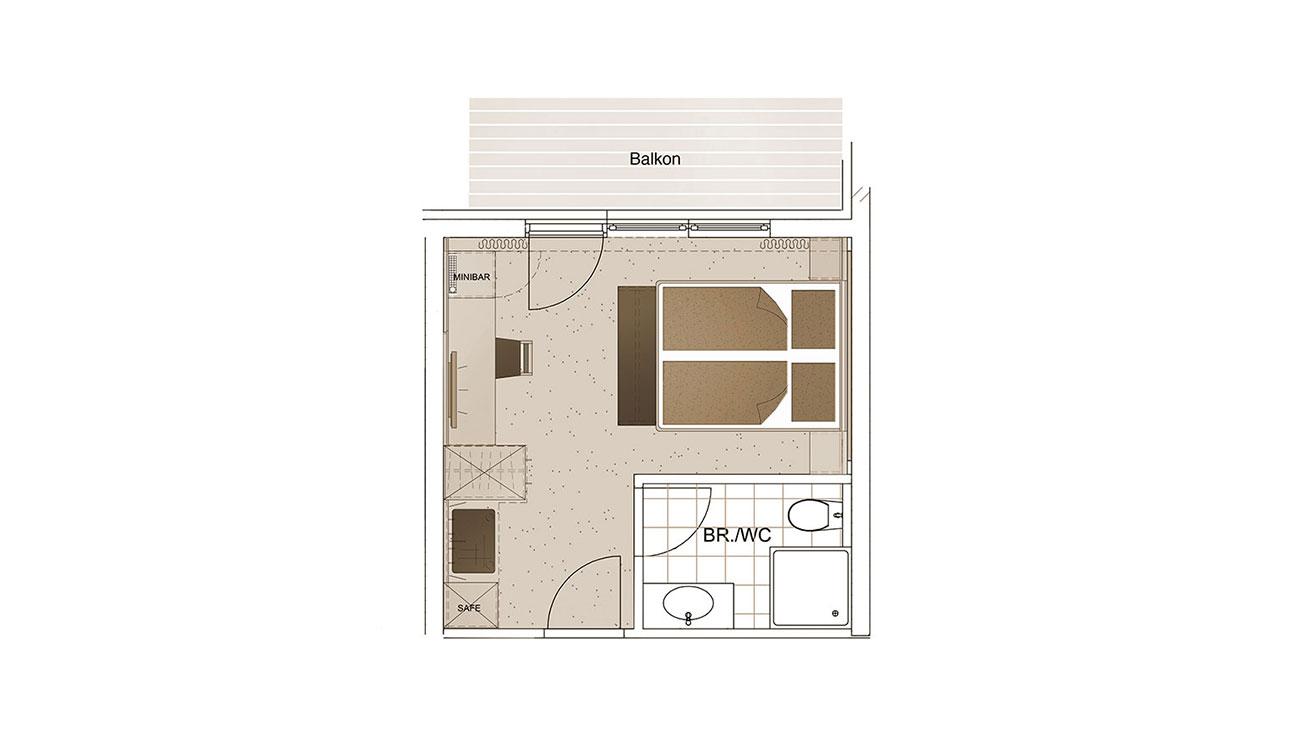 Grundriss Zimmerwelt 2 Hotel Alpenwelt Flachau 1