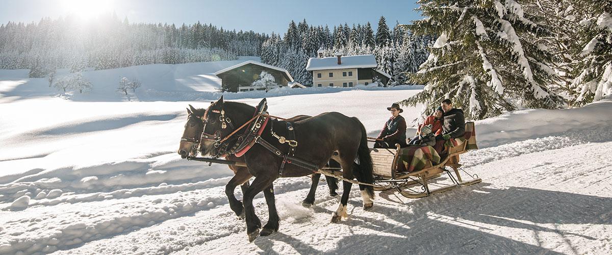 Pferdekutschenfahrt Winterurlaub Salzburger Land 1