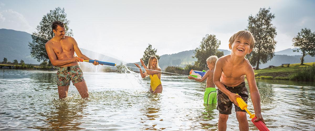Schwimmen - Sommerurlaub in Flachau, Salzburger Land