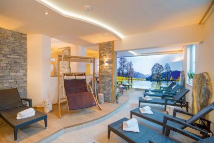 Entspannender Wellnessbereich im Hotel Alpenwelt